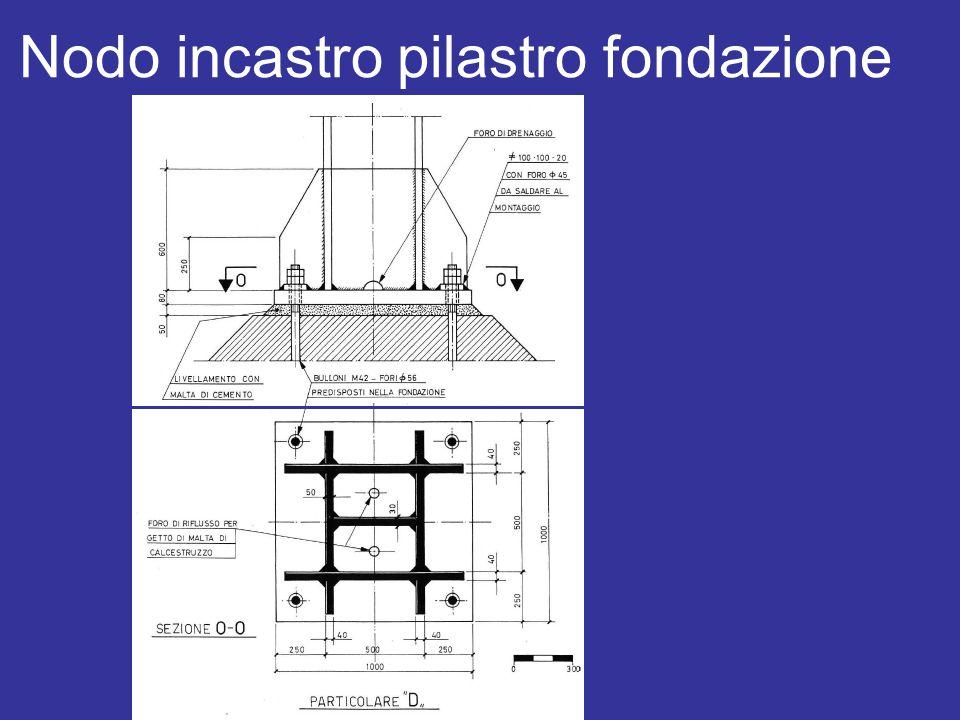 Nodo incastro pilastro fondazione