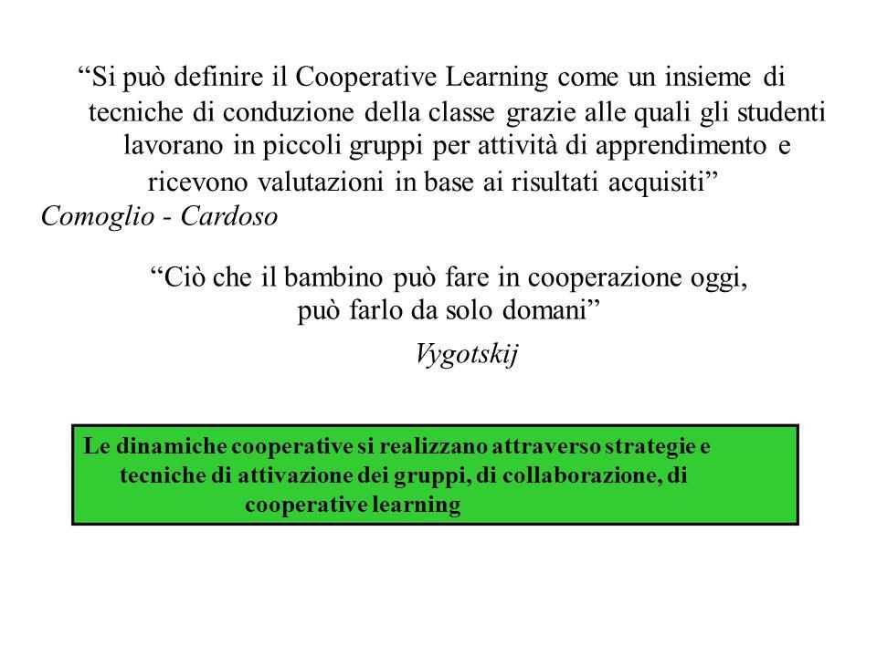 """""""Si può definire il Cooperative Learning come un insieme di tecniche di conduzione della classe grazie alle quali gli studenti lavorano in piccoli gru"""