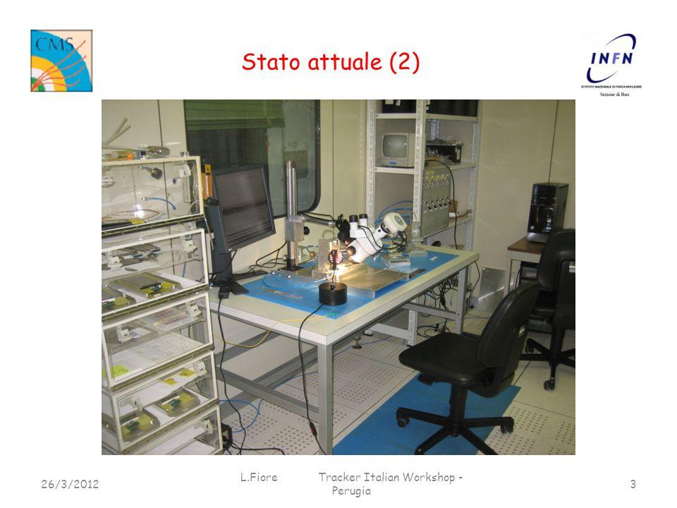 Stato attuale (2) 26/3/2012 L.Fiore Tracker Italian Workshop - Perugia 3