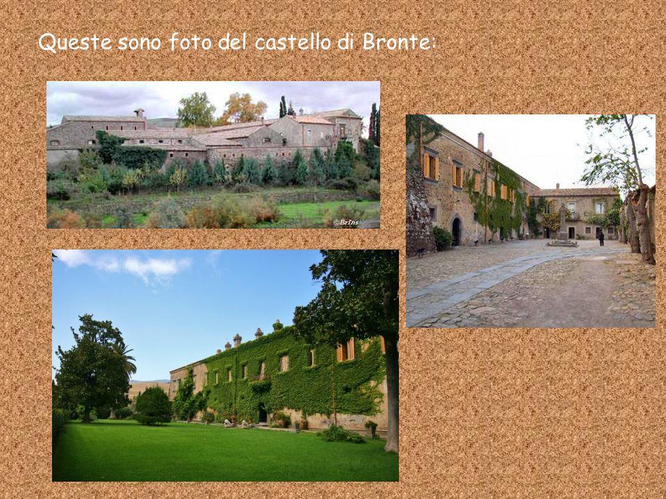 Queste sono foto del castello di Bronte: