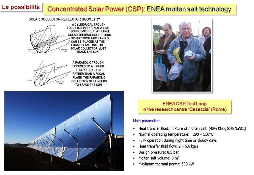 "Concentrated Solar Power (CSP): ENEA molten salt technology ENEA CSP Test Loop in the research centre ""Casaccia"" (Rome) ENEA CSP Test Loop in the rese"
