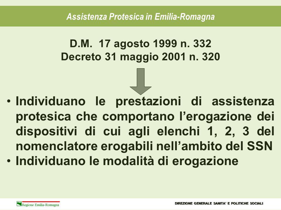 Assistenza Protesica in Emilia-Romagna I DISPOSITIVI COSTRUITI SU MISURA I DISPOSITIVI DI SERIE LA CUI APPLICAZIONE RICHIEDE MODIFICHE DA PARTE DI UN TECNICO ABILITATO SU PRESCRIZIONE DI UN MEDICO SPECIALISTA CON SUCCESSIVO COLLAUDO I DISPOSITIVI DI SERIE FINITI CHE PER ESSERE CONSEGNATI A UN PAZIENTE DEVONO ESSERE ALLESTITI A MISURA DA TECNICO ABILITATO SUPRESCRIZIONEDEL MEDICO SPECIALISTA ELENCO 1 CONTIENE: DIREZIONE GENERALE SANITA' E POLITICHE SOCIALI