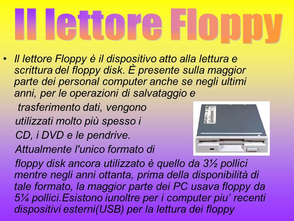 Il lettore Floppy è il dispositivo atto alla lettura e scrittura del floppy disk. È presente sulla maggior parte dei personal computer anche se negli