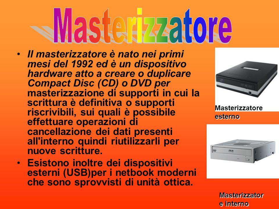 Il masterizzatore è nato nei primi mesi del 1992 ed è un dispositivo hardware atto a creare o duplicare Compact Disc (CD) o DVD per masterizzazione di