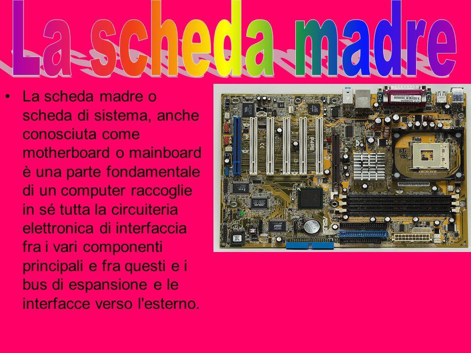 La scheda madre o scheda di sistema, anche conosciuta come motherboard o mainboard è una parte fondamentale di un computer raccoglie in sé tutta la ci