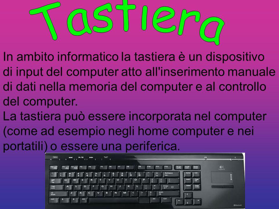 In ambito informatico la tastiera è un dispositivo di input del computer atto all'inserimento manuale di dati nella memoria del computer e al controll