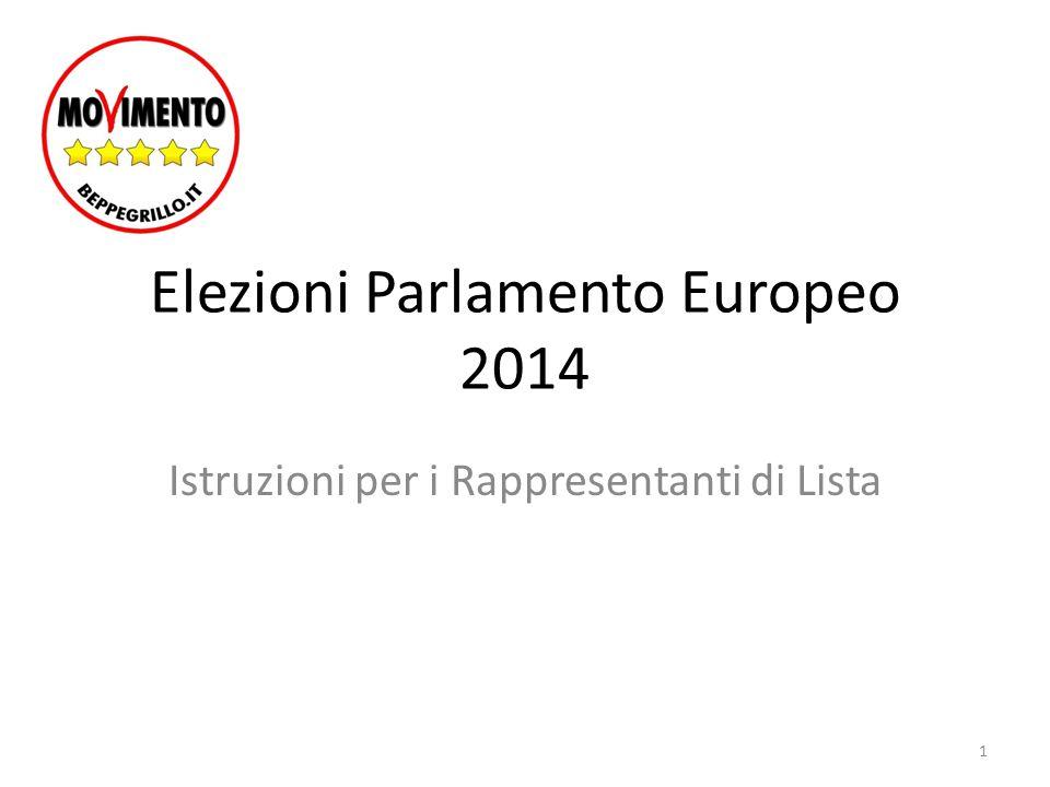 Elezioni Parlamento Europeo 2014 Istruzioni per i Rappresentanti di Lista 1