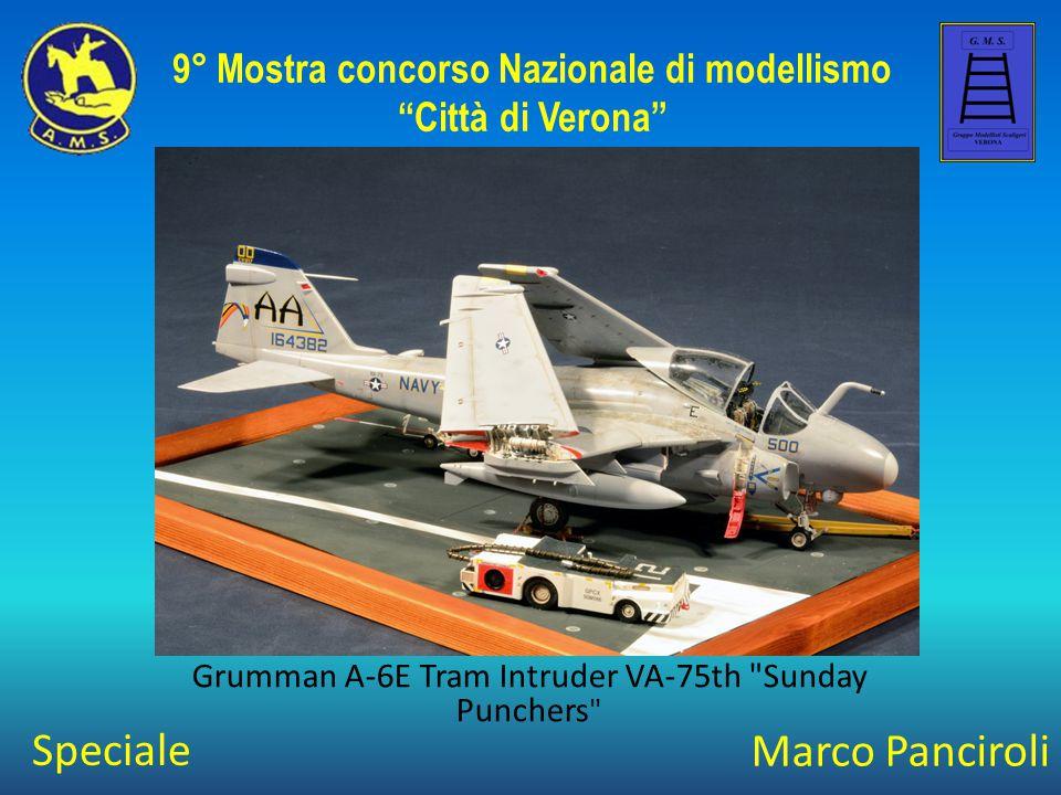 Marco Panciroli Grumman A-6E Tram Intruder VA-75th Sunday Punchers 9° Mostra concorso Nazionale di modellismo Città di Verona Speciale