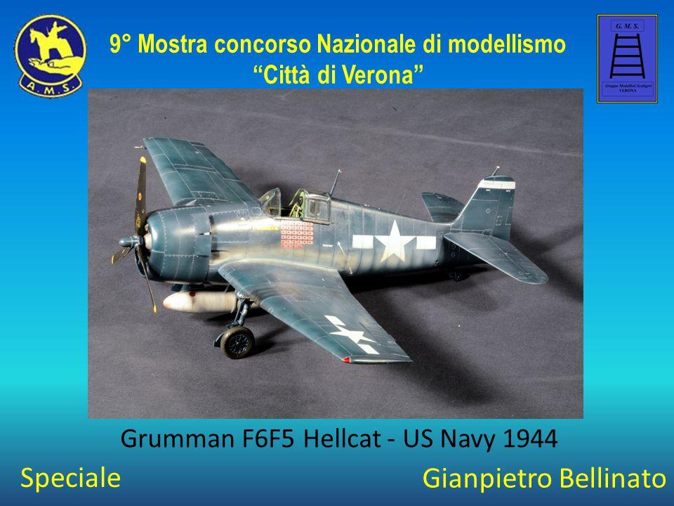 """Gianpietro Bellinato Grumman F6F5 Hellcat - US Navy 1944 9° Mostra concorso Nazionale di modellismo """"Città di Verona"""" Speciale"""