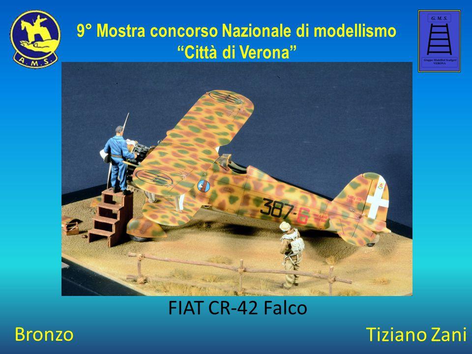 """Tiziano Zani FIAT CR-42 Falco 9° Mostra concorso Nazionale di modellismo """"Città di Verona"""" Bronzo"""
