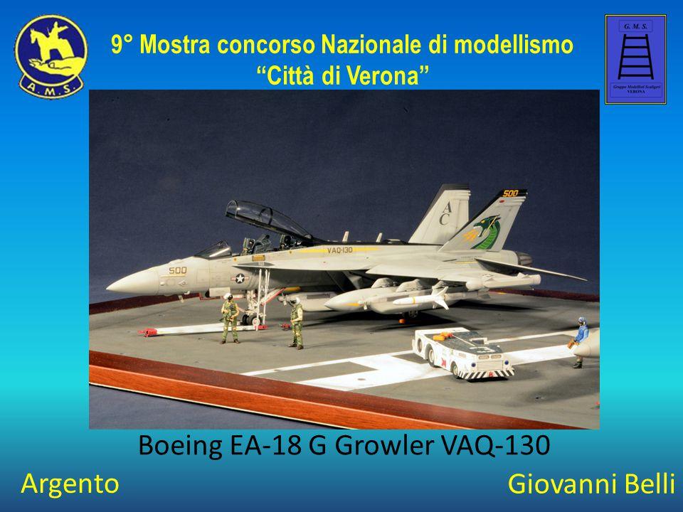 """Giovanni Belli Boeing EA-18 G Growler VAQ-130 9° Mostra concorso Nazionale di modellismo """"Città di Verona"""" Argento"""