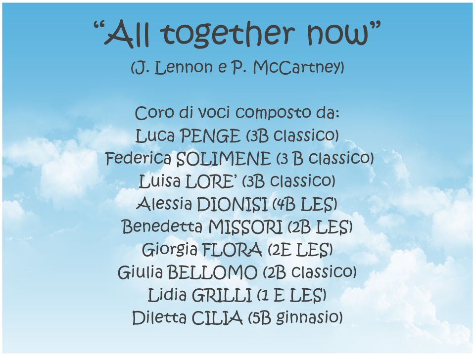 All together now (J.Lennon e P.