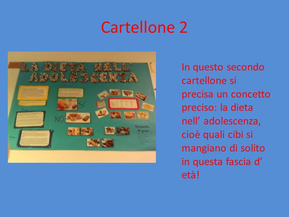 Cartellone 3 In questo cartellone, invece, Spiega un' altra cosa importante sull' alimentazione: la piramide alimentare!