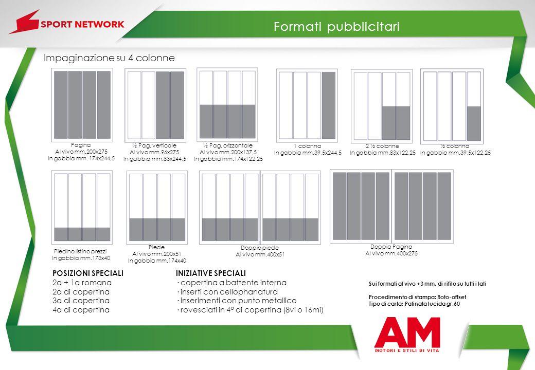 MATERIALE RICHIESTO: File digitali in formato PDF 1.3 (compatibilità AcrobatTM 4) con le seguenti caratteristiche: Immagini: La risoluzione delle immagini deve essere di almeno 300 dpi per colore e scala di grigio e 1200 dpi per line-art e bitmap.