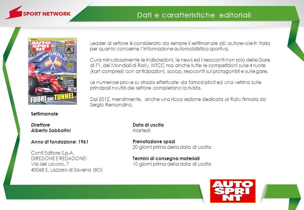 Leader di settore è considerato da sempre il settimanale più autorevole in Italia per quanto concerne l'informazione automobilistica sportiva. Cura mi