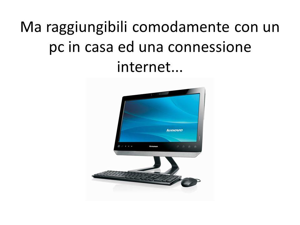 Ma raggiungibili comodamente con un pc in casa ed una connessione internet...