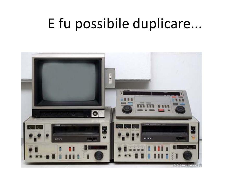 La ricerca porto' alla nascita del segnale (video audio dati) digitale...