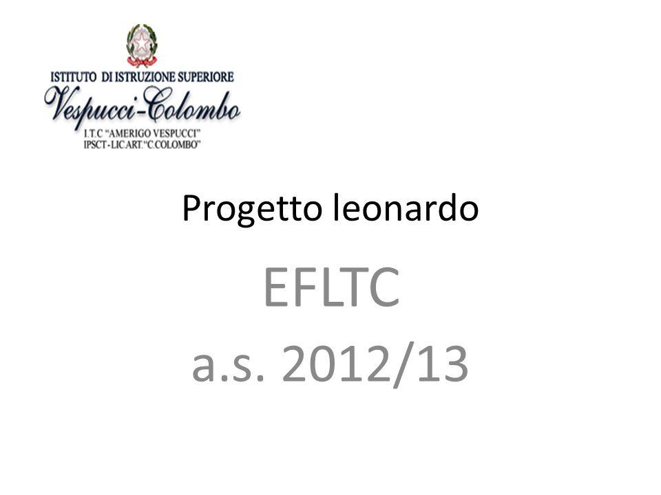 Progetto leonardo EFLTC a.s. 2012/13