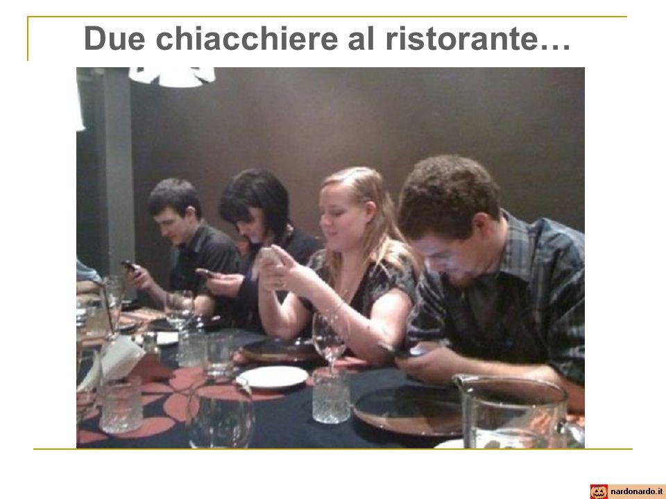 Due chiacchiere al ristorante…