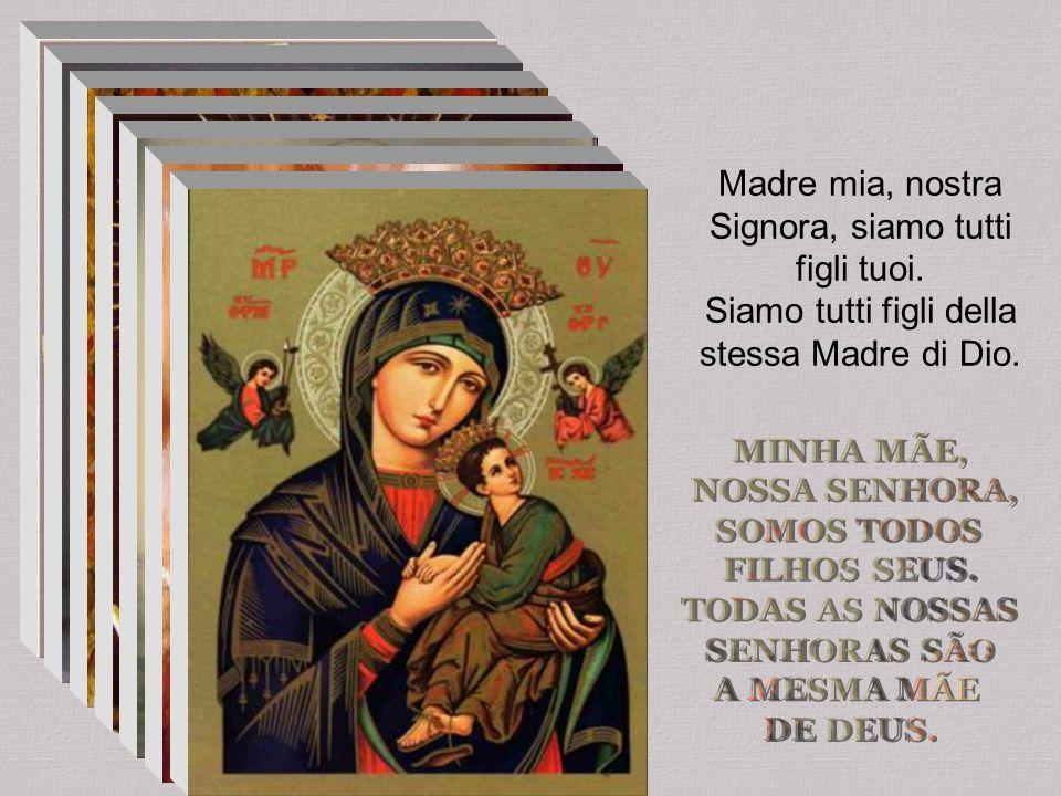 Madre mia, nostra Signora, siamo tutti figli tuoi. Siamo tutti figli della stessa Madre di Dio.