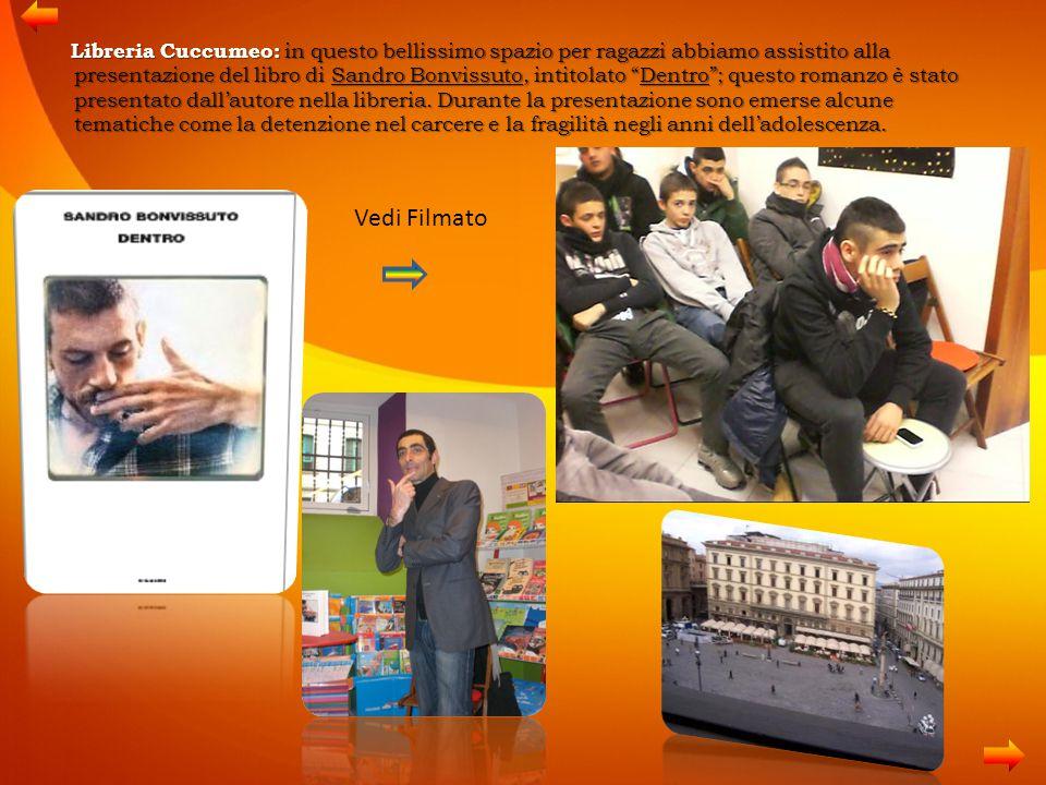 """Libreria Cuccumeo: in questo bellissimo spazio per ragazzi abbiamo assistito alla presentazione del libro di Sandro Bonvissuto, intitolato """"Dentro""""; q"""