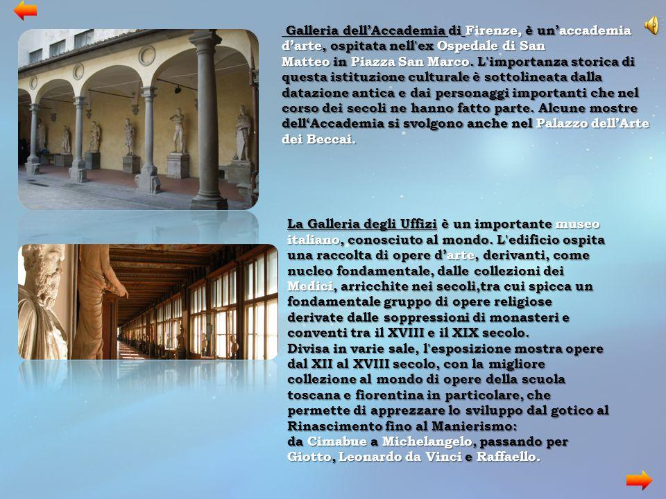 Galleria dell'Accademia di Firenze, è un'accademia d'arte, ospitata nell'ex Ospedale di San Matteo in Piazza San Marco. L'importanza storica di questa