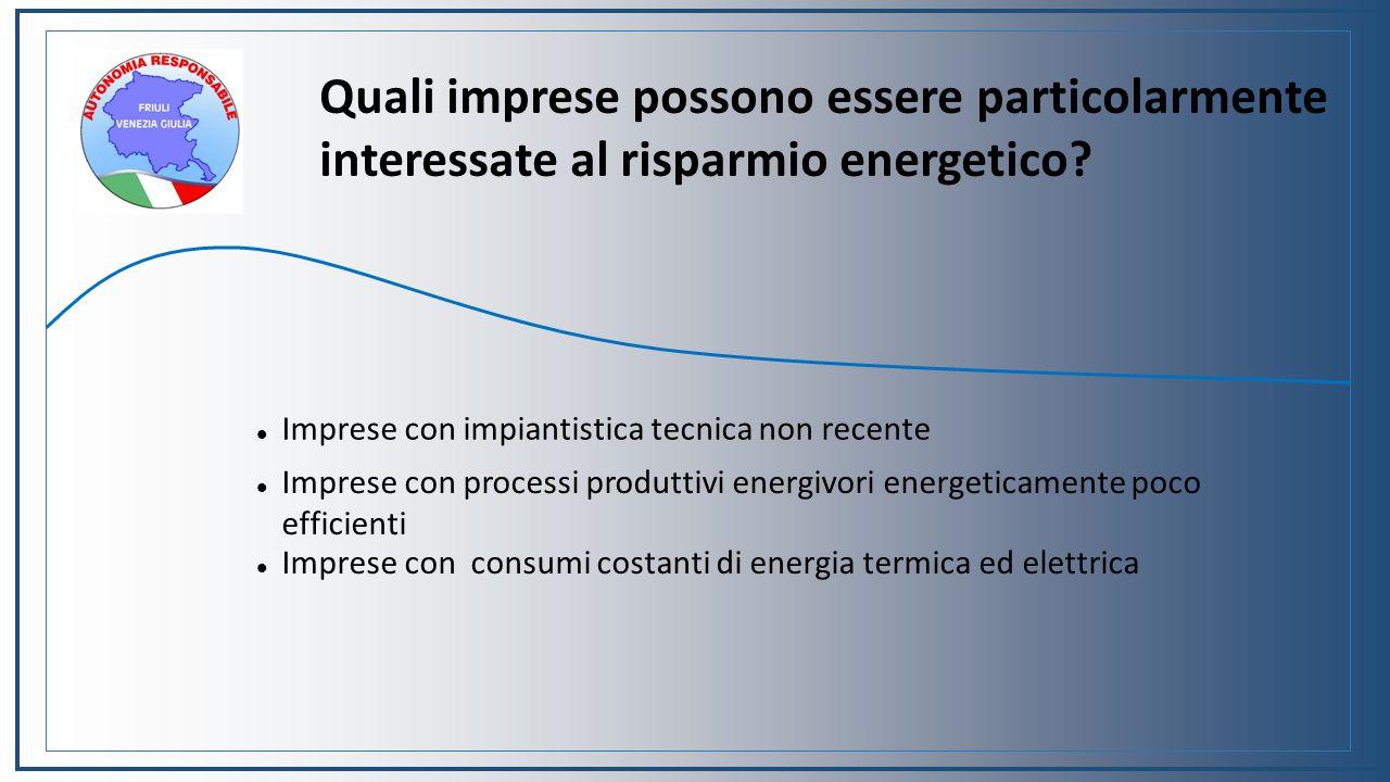 Quali imprese possono essere particolarmente interessate al risparmio energetico.