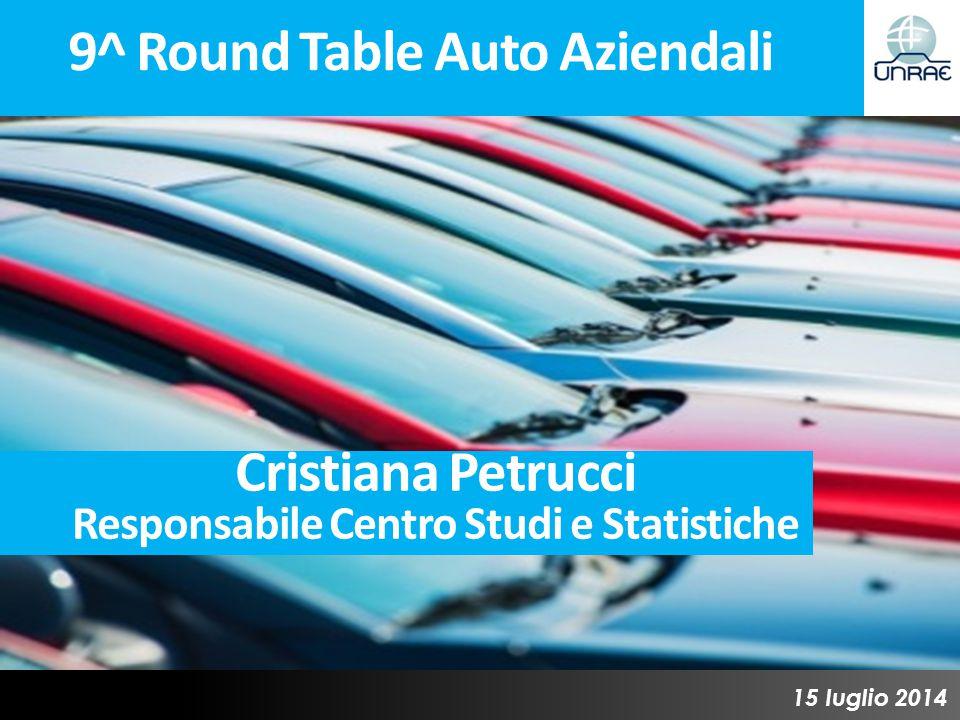 9^ Round Table Auto Aziendali 15 luglio 2014 Cristiana Petrucci Responsabile Centro Studi e Statistiche