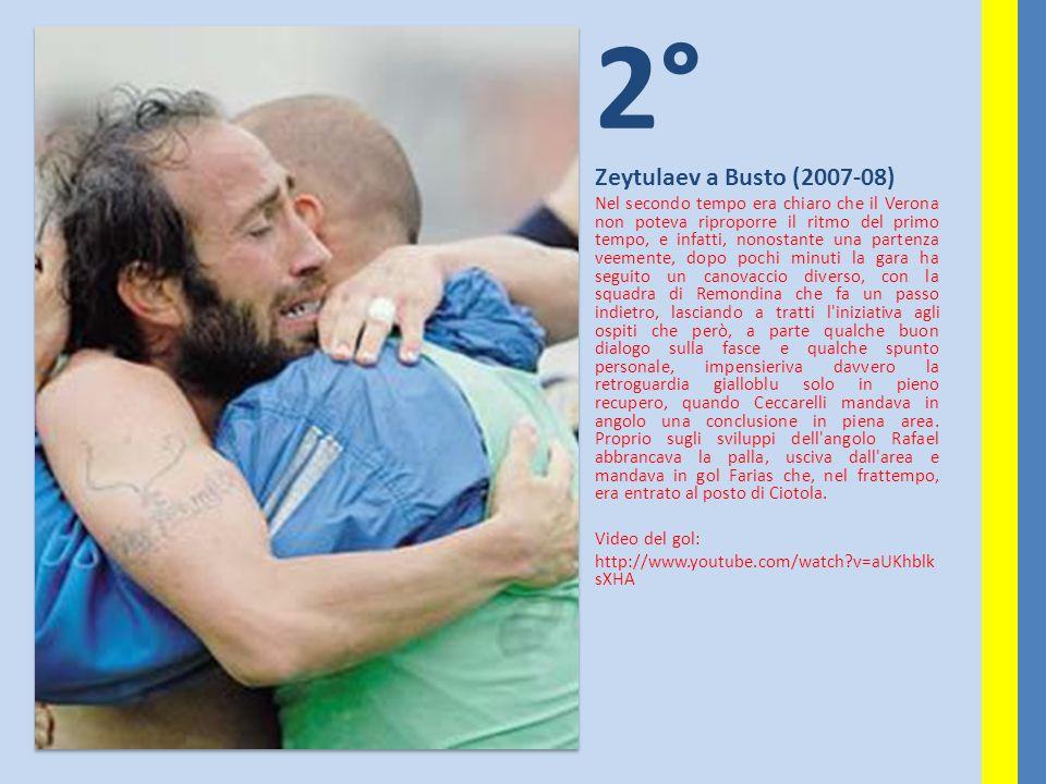 2° Zeytulaev a Busto (2007-08) Nel secondo tempo era chiaro che il Verona non poteva riproporre il ritmo del primo tempo, e infatti, nonostante una pa