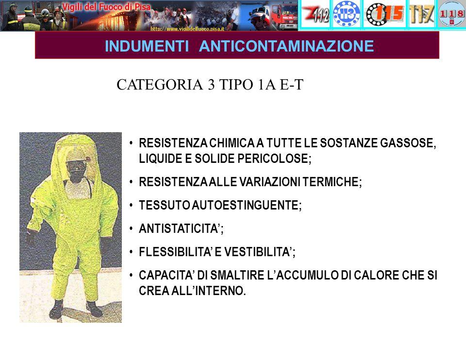 RESISTENZA CHIMICA A TUTTE LE SOSTANZE GASSOSE, LIQUIDE E SOLIDE PERICOLOSE; RESISTENZA ALLE VARIAZIONI TERMICHE; TESSUTO AUTOESTINGUENTE; ANTISTATICITA'; FLESSIBILITA' E VESTIBILITA'; CAPACITA' DI SMALTIRE L'ACCUMULO DI CALORE CHE SI CREA ALL'INTERNO.