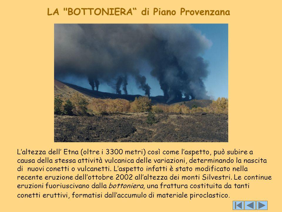 L'altezza dell' Etna (oltre i 3300 metri) così come l'aspetto, può subire a causa della stessa attività vulcanica delle variazioni, determinando la na