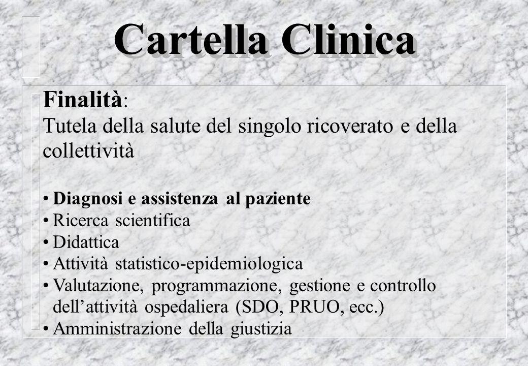 Finalità : Tutela della salute del singolo ricoverato e della collettività Diagnosi e assistenza al paziente Ricerca scientifica Didattica Attività st