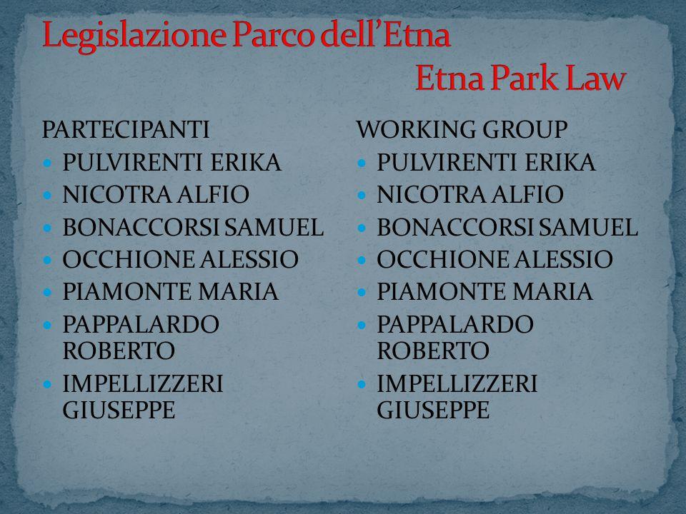 D.P.R.ISTITUZIONE PARCO DELL'ETNA ETNA PATRIMONIO DELL'UNESCO R.D.P.