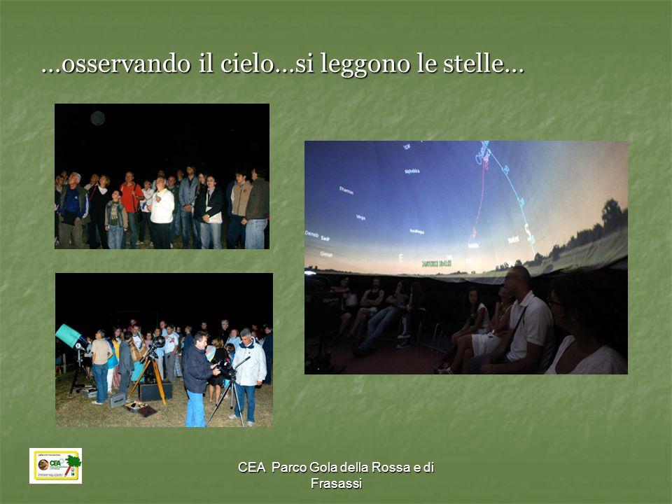 CEA Parco Gola della Rossa e di Frasassi …osservando il cielo…si leggono le stelle…