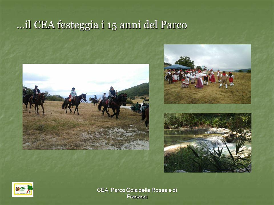CEA Parco Gola della Rossa e di Frasassi …il CEA festeggia i 15 anni del Parco