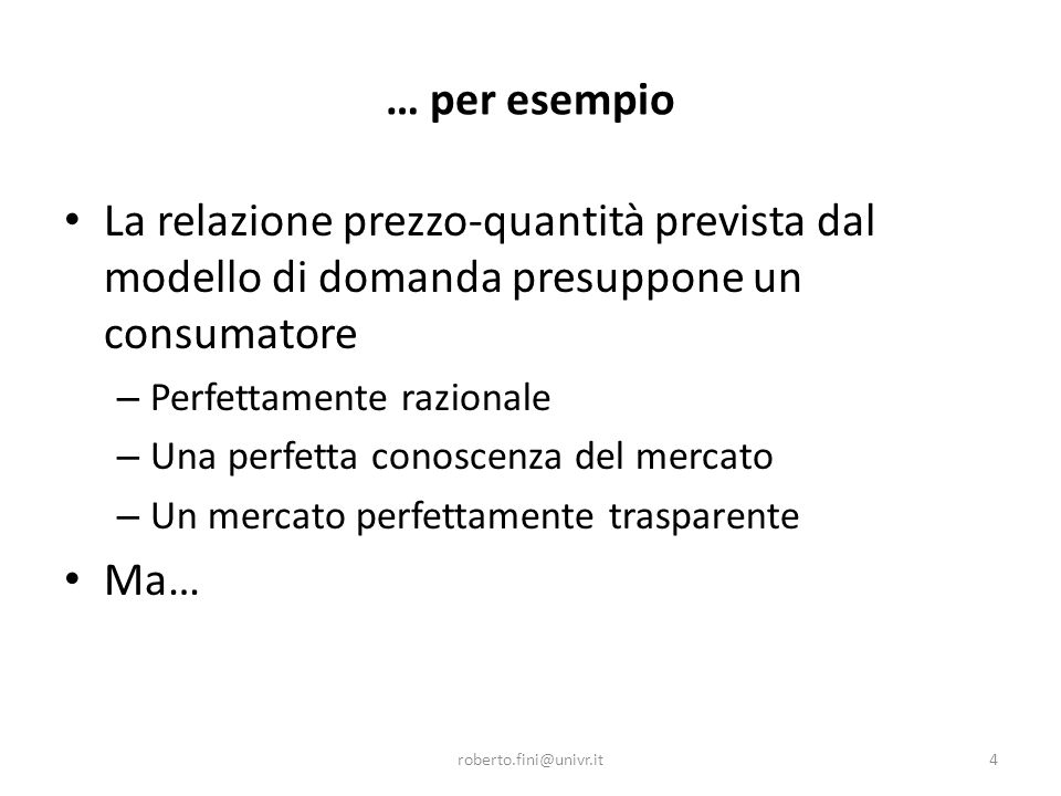 La prospect theory La prospect theory è in grado di spiegare anche perché gli eventi negativi sono in genere sopravalutati rispetto agli eventi positivi; Per esempio, l ' idea di perdere 100 euro è più negativa di quanto sia positiva l ' idea di guadagnarne altrettanti.