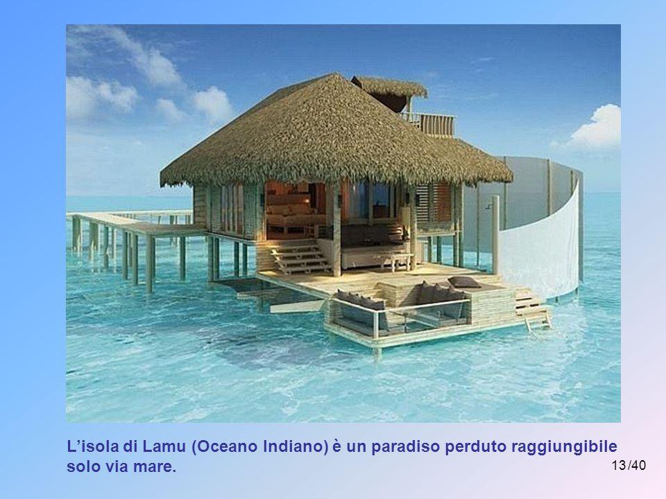 12 /40 L'aeroporto delle Maldive è costruito su un'isola artificiale in mezzo all'Oceano Indiano.