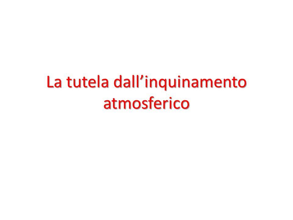 INQUINAMENTO ATMOSFERICO L'inquinamento atmosferico può essere definito come l'accumulo di una o più sostanze, in concentrazioni tali da modificare le normali condizioni ambientali e di salubrità dell'aria.