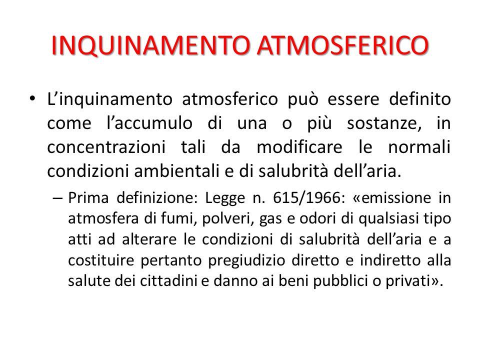 Autorizzazione alle emissioni in atmosfera per gli stabilimenti.