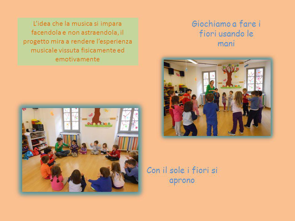 Iniziamo con la danza dei saluti L'obiettivo del progetto è rendere i bambini protagonisti di un'esperienza significativa che permette loro di avvicin