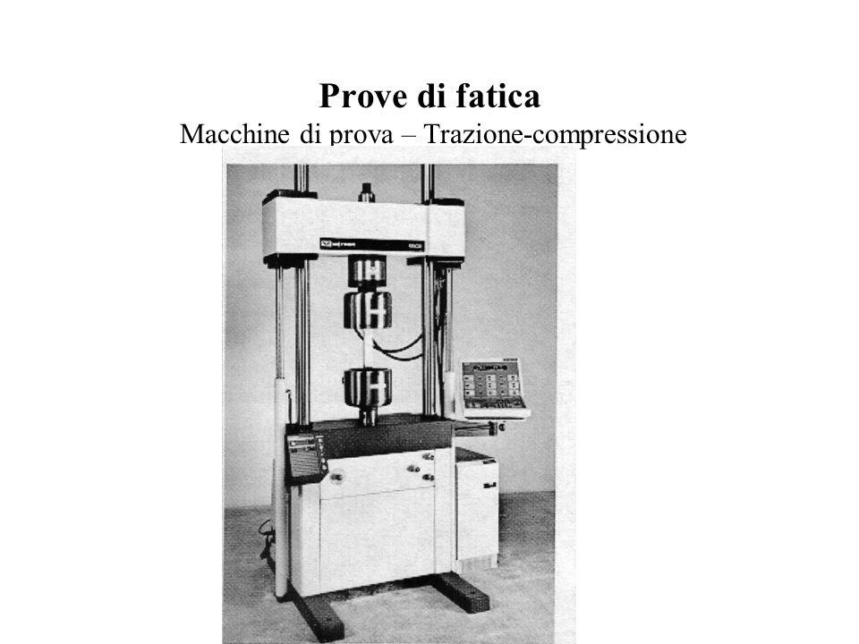 Prove di fatica Macchine di prova – Trazione-compressione