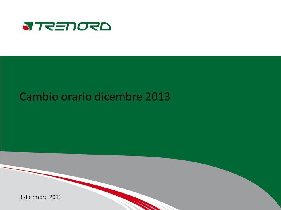 Cambio orario dicembre 2013 3 dicembre 2013