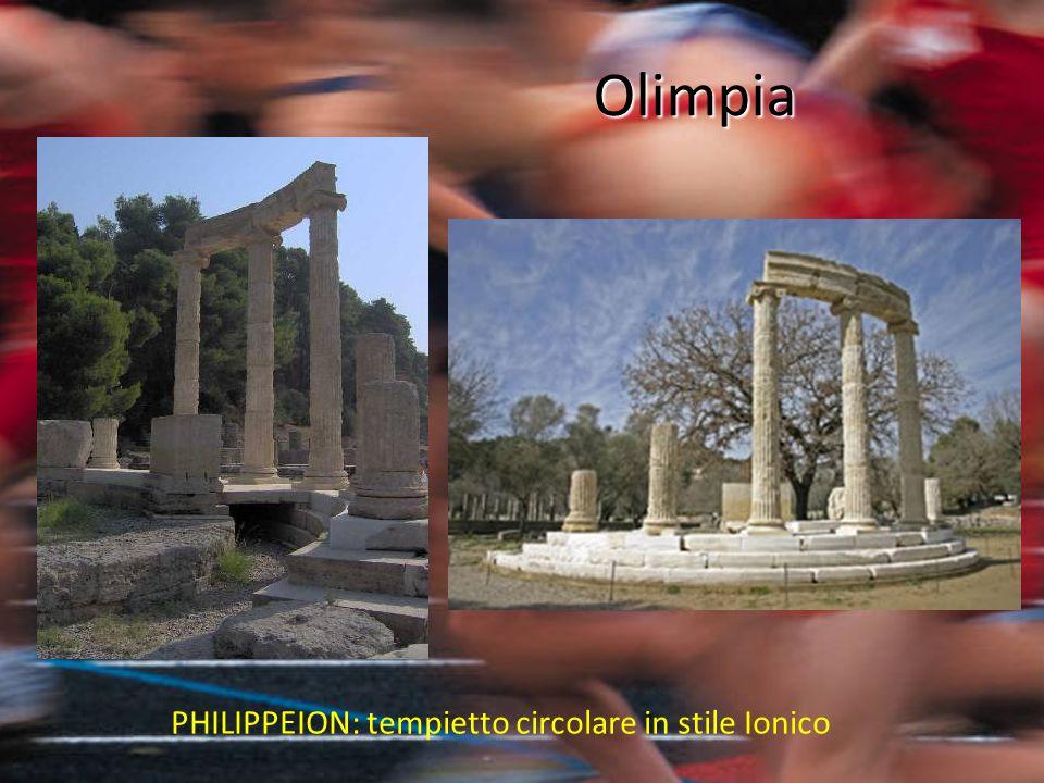 PHILIPPEION: tempietto circolare in stile Ionico Olimpia