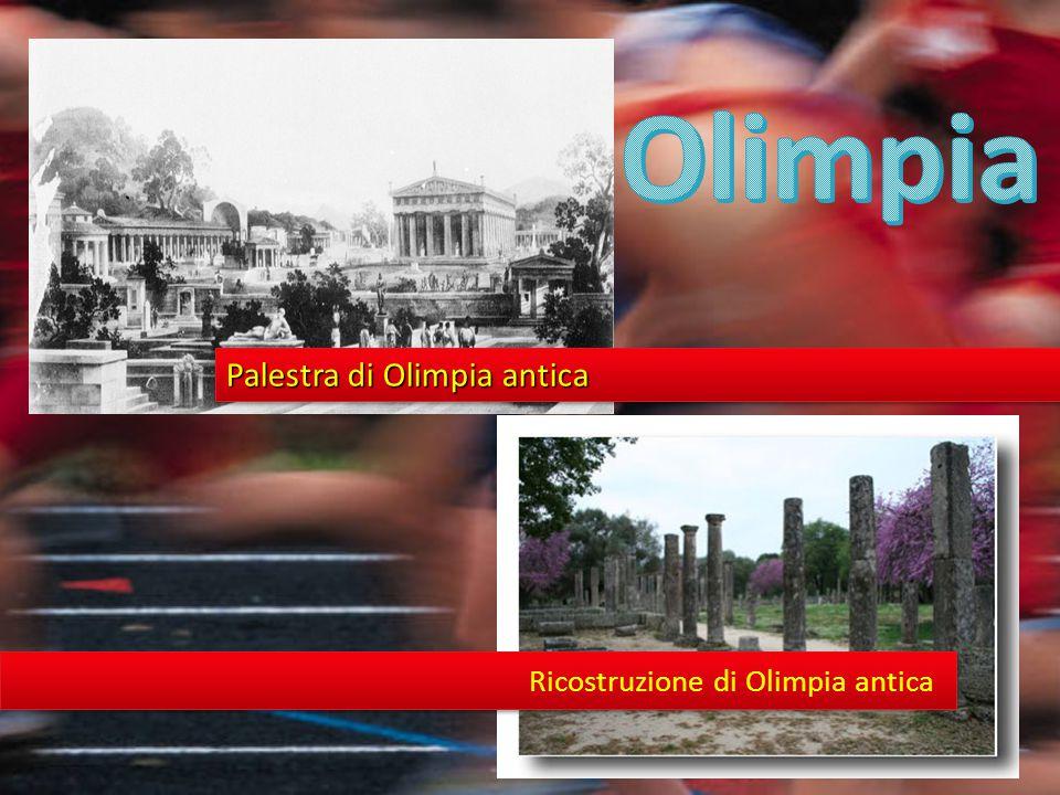 Palestra di Olimpia antica Ricostruzione di Olimpia antica