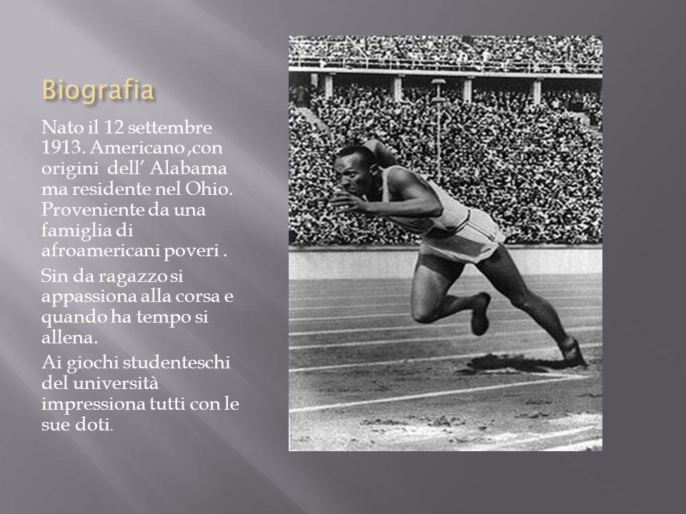 Jesse Owens e le Olimpiadi del 1936 Nelle olimpiadi di Berlino, fortemente volute dai Nazisti e da Hitler sicuro di un trionfo tedesco, Jesse Owens (NON ARIANO )vinse ben 4 medaglie d' oro.