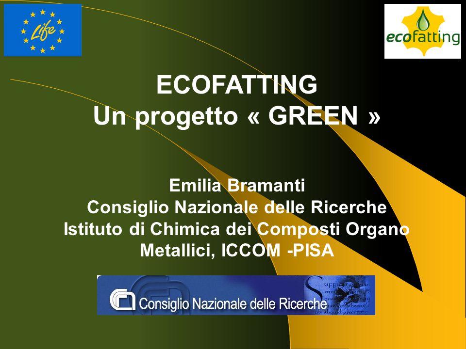 ECOFATTING Un progetto « GREEN » Emilia Bramanti Consiglio Nazionale delle Ricerche Istituto di Chimica dei Composti Organo Metallici, ICCOM -PISA