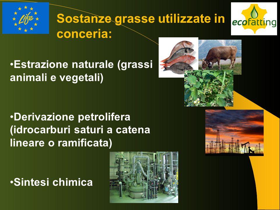 Estrazione naturale (grassi animali e vegetali) Derivazione petrolifera (idrocarburi saturi a catena lineare o ramificata) Sintesi chimica Sostanze gr