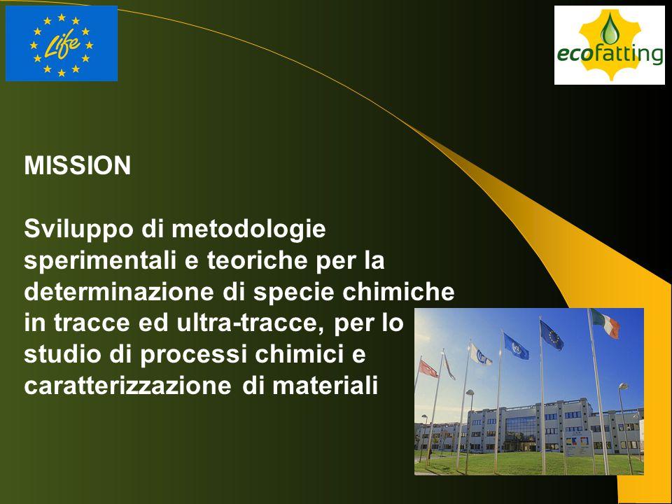 MISSION Sviluppo di metodologie sperimentali e teoriche per la determinazione di specie chimiche in tracce ed ultra-tracce, per lo studio di processi
