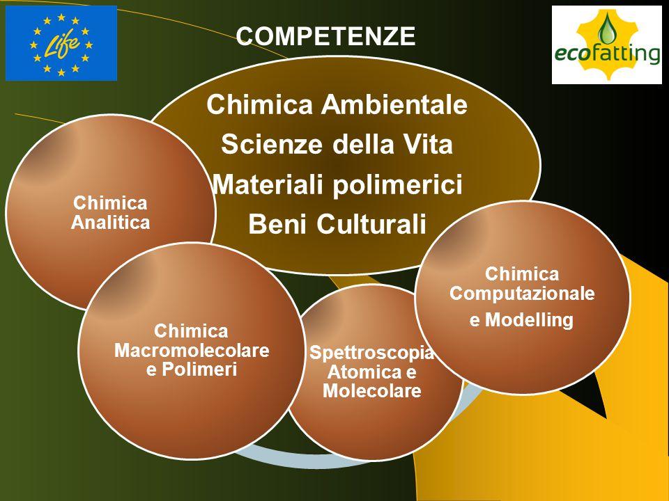 Chimica Ambientale Scienze della Vita Materiali polimerici Beni Culturali Chimica Analitica Spettroscopia Atomica e Molecolare Chimica Macromolecolare