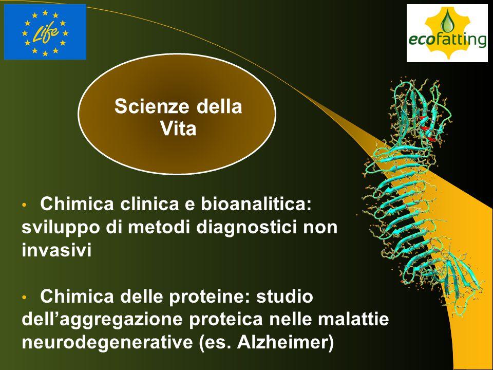 Scienze della Vita Chimica clinica e bioanalitica: sviluppo di metodi diagnostici non invasivi Chimica delle proteine: studio dell'aggregazione protei